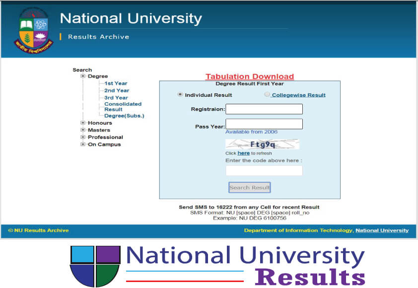 National University of Bangladesh result