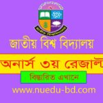 Honours 3rd year results 2019 for the session of 2018