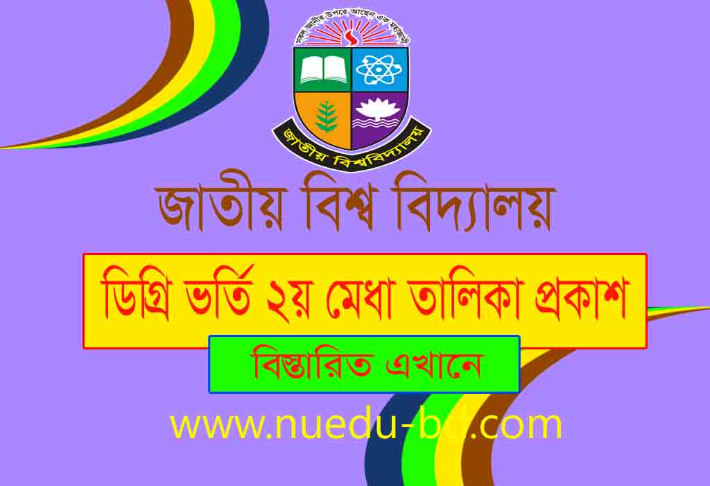 Degree 1st year admission 2nd merit list published